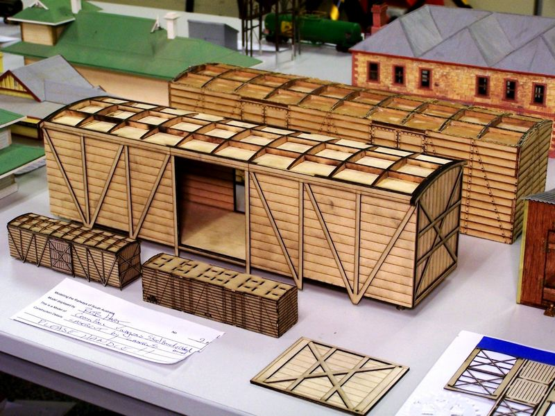 Home laser cut CR wagons