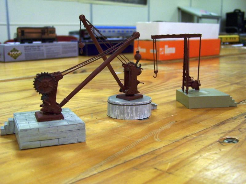 A collection of Yard Cranes in HO scale