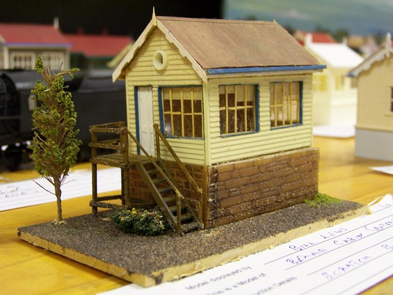 Belair Cabin, HO scale scratchbuilt by Bill Lewis