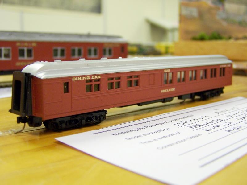 Dining Car Adelaide, N scale Rivarossi conversion by Malcolm