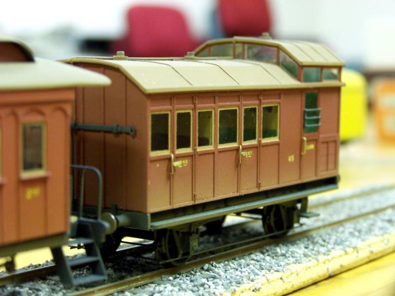 Early SAR Brakevan No.45 from perspex & styrene by Frank Kel