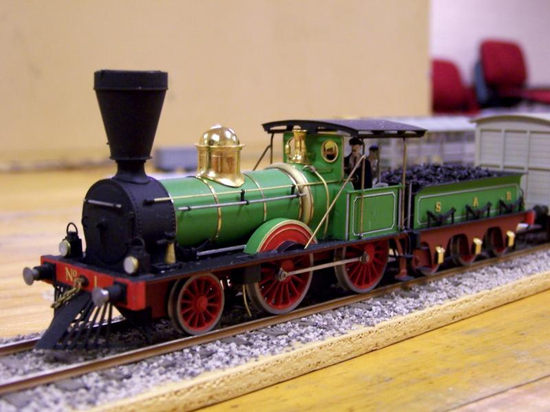 Early SAR Loco No.1, 4mm scale scratchbuilt brass by Frank K