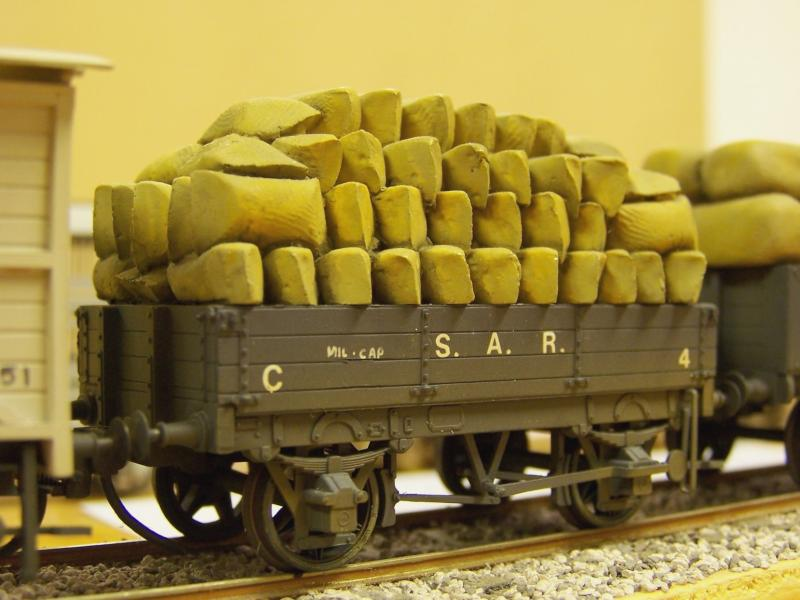 Early SAR open wagon, 4mm, scratchbuilt by Frank Kelly