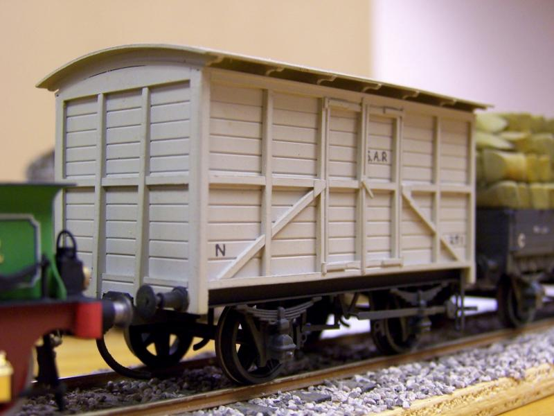 Early SAR timber van 4mm, scratchbuilt by Frank Kelly