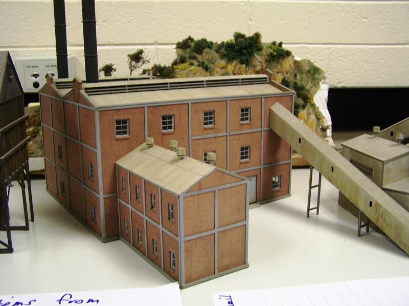 Factory building  scratchbuilt by Kev Lockhead