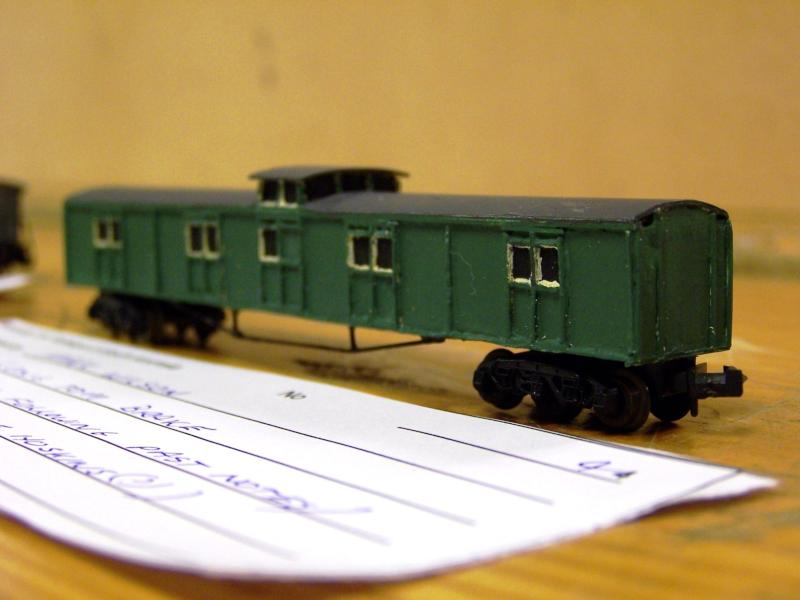 Long Tom Brakevan, N scale, Scratchbuilt by Mark Wilson