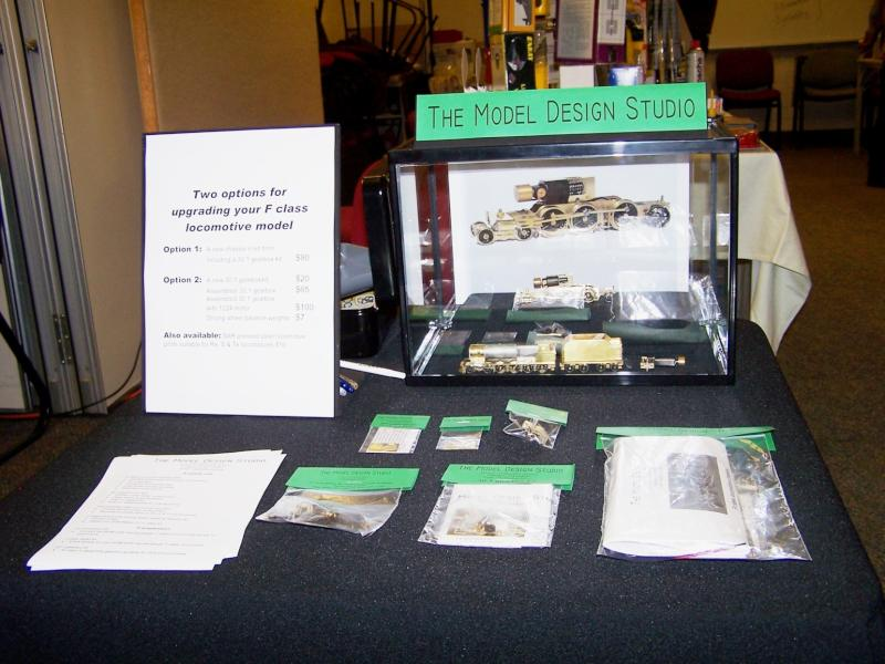 New cottage industry displaying locomotive parts, motor and