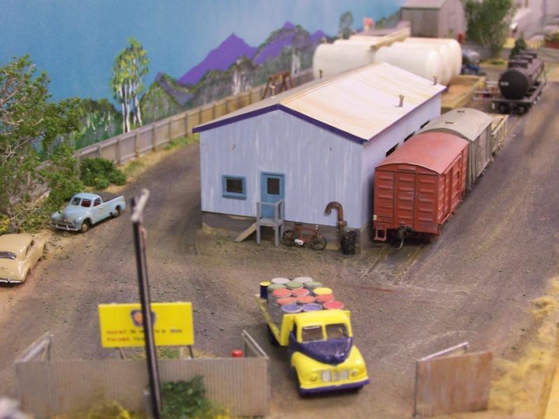 Oil Depot diarama