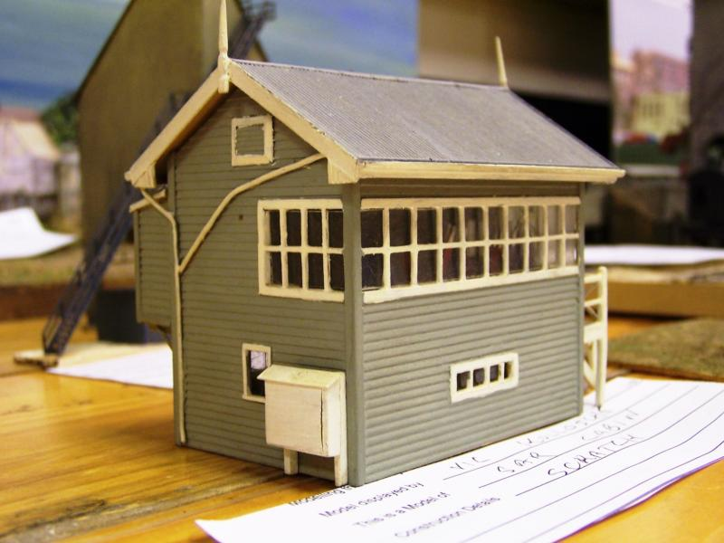 SAR style cabin HO scale scratchbuilt by Vic Kollosche
