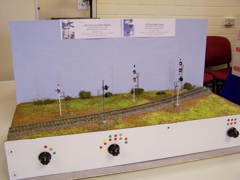 Searchlight signal kits display