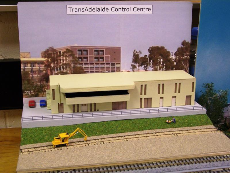 TransAdelaide Cotrol Centre, N scale scratcbuilt by Graham C