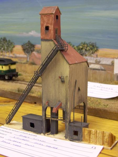 Wallaroo Coal Tower, N scale scratchbuilt by Mark Wilson