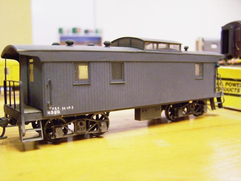 Webb Caboose 4360, 4mm scale scratchbuilt acrylic & styrene
