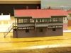 Half relief Adelaide  Station signal cabin scratchbuilt by G