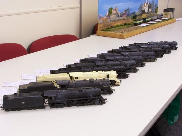 720 class line up of kitbash & kit locomotives