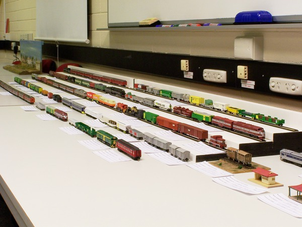 General view of large N scale display