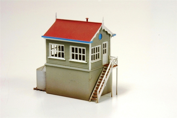 SAR style Signal cabin from castings with styrene brick base