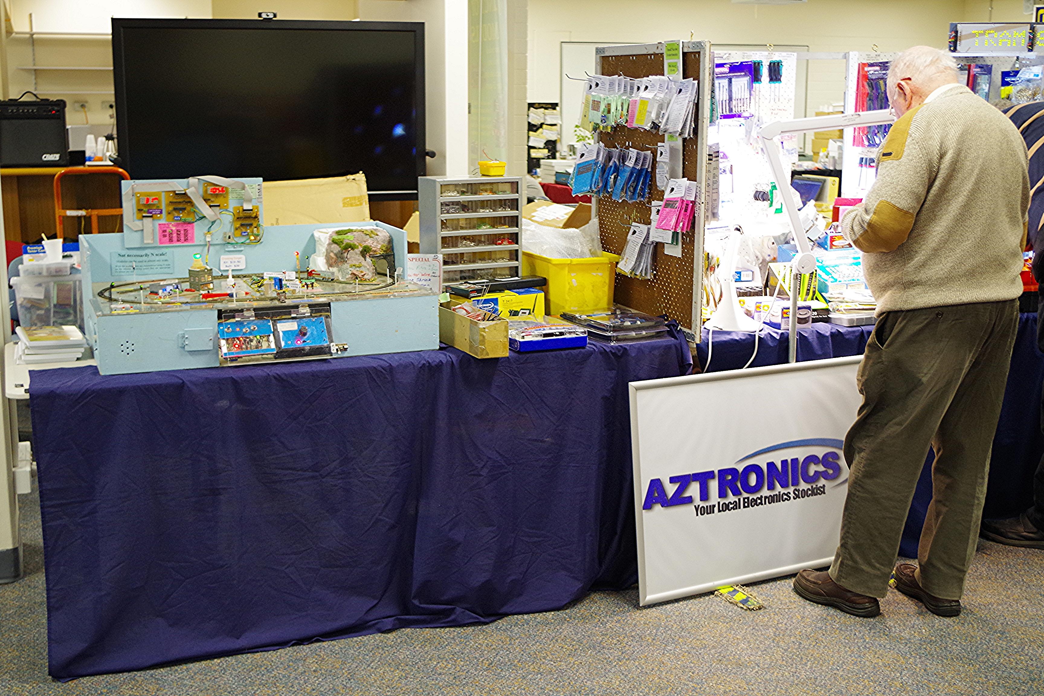 Aztronics stand.